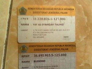 NPWP Yayasan As Syahidah Tauhid